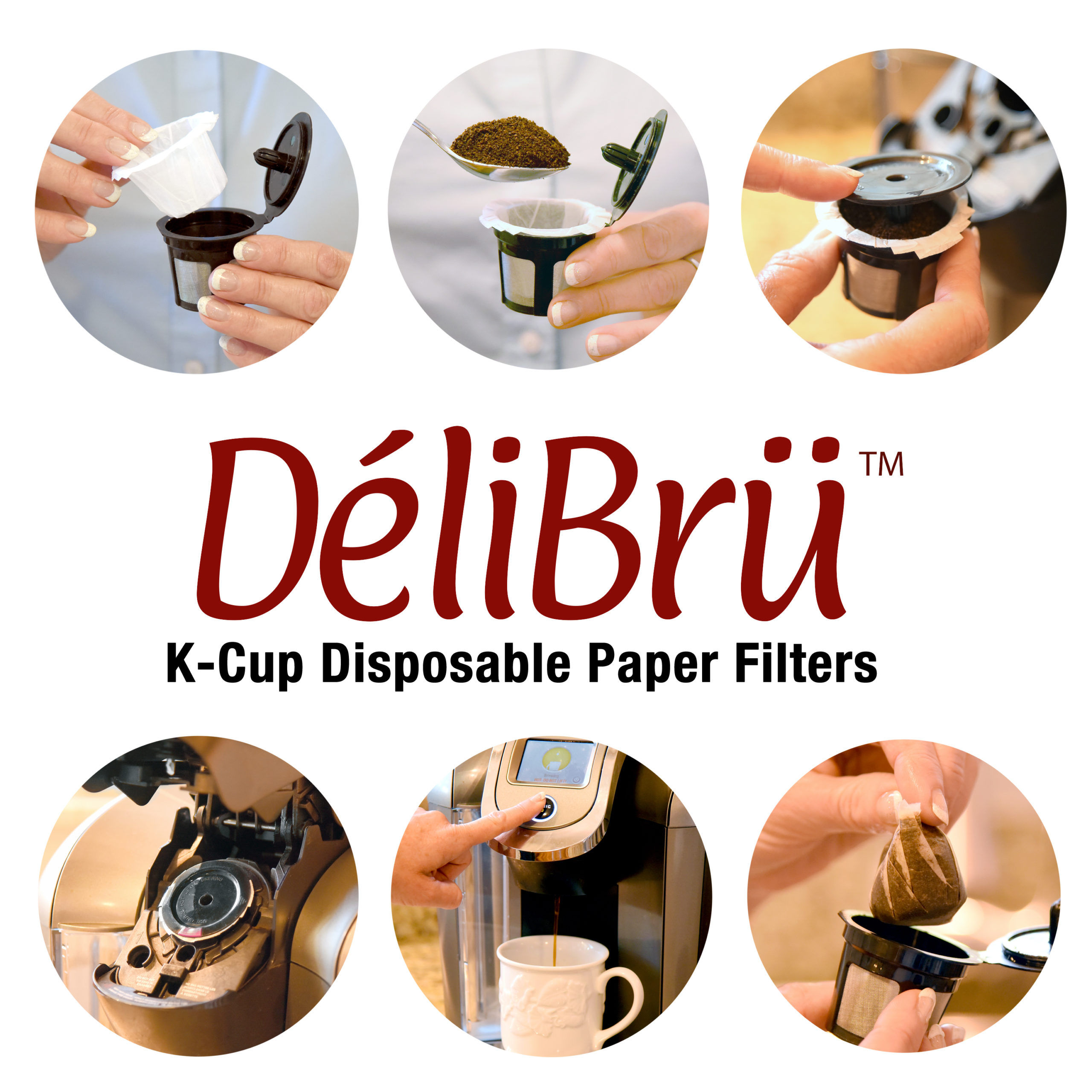 Delibru Paper Filters for Reusable K Cups Instructions