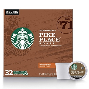 starbucks pike place k cup